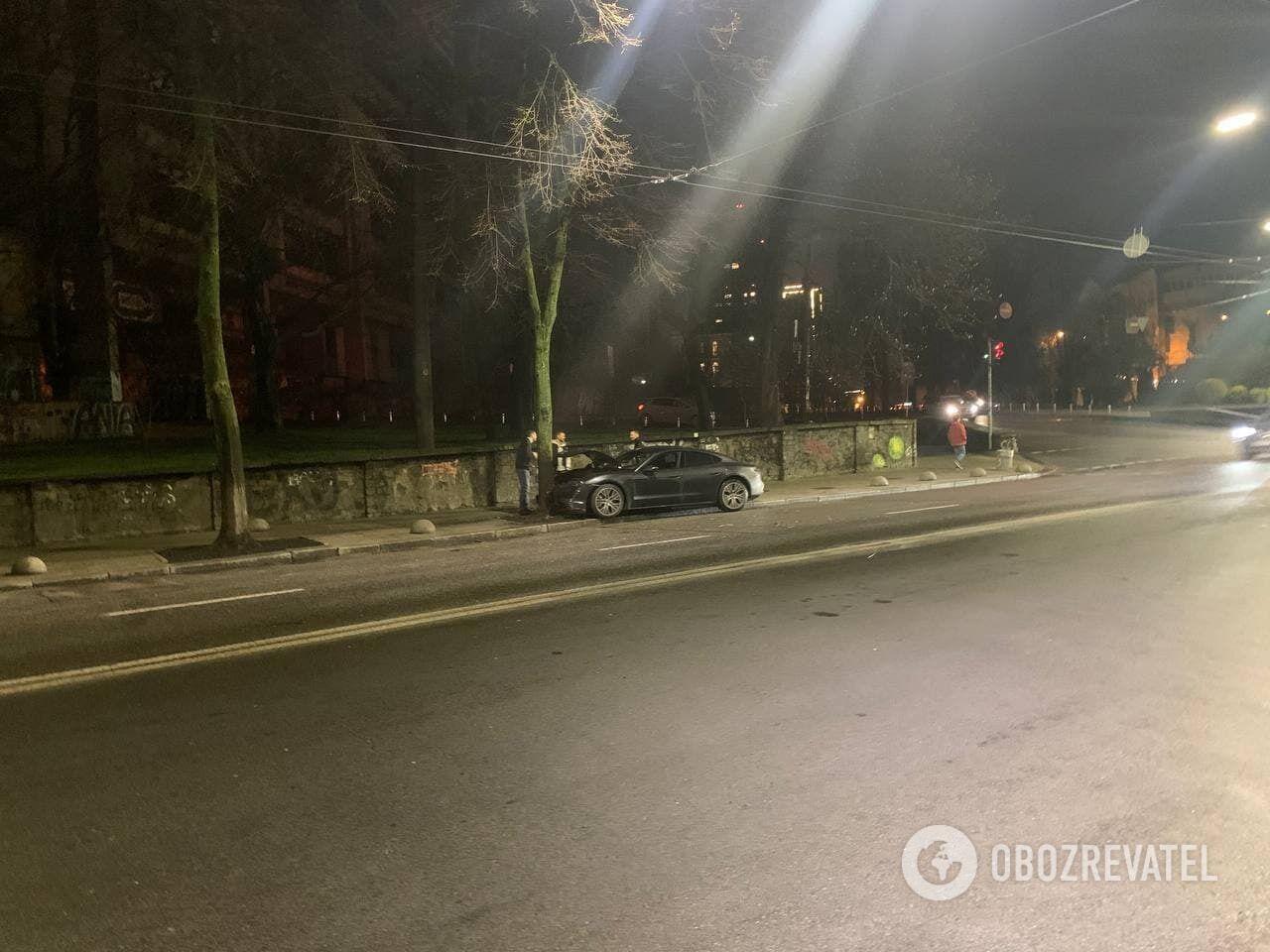 Авария в Киеве с Porsche