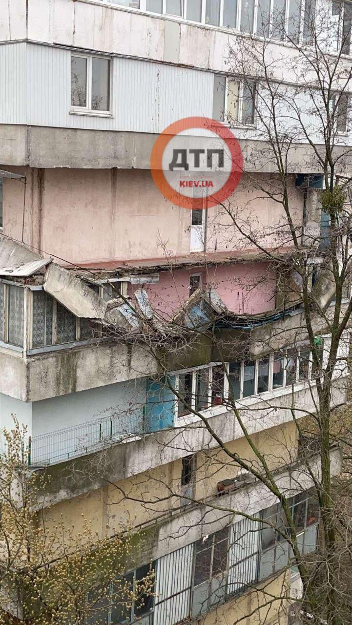 В Киеве упали балконы.