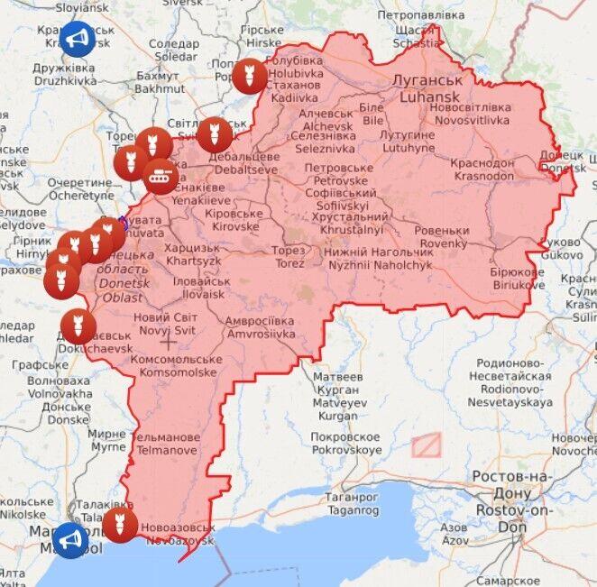 Карта війни на Донбасі