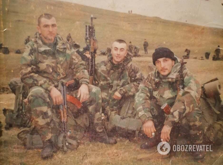 Давид (праворуч) під час війни в Грузії