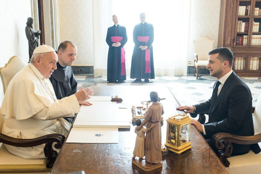Папа Франциск і Володимир Зеленський
