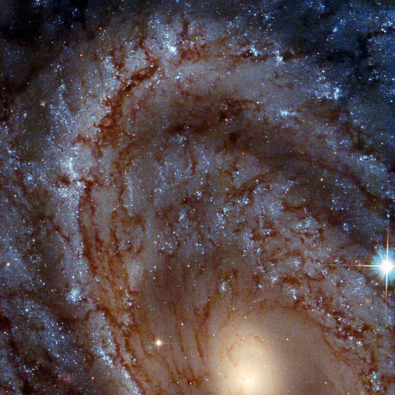 Спиральная галактика NGC 4603