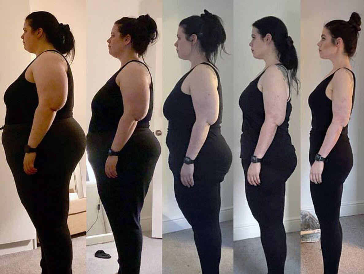 Так выглядит ее процесс похудения за год