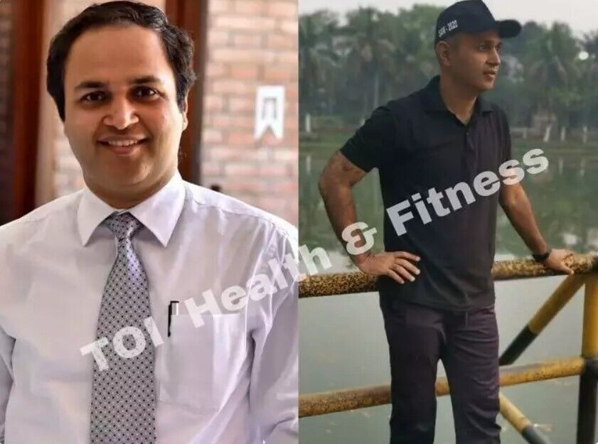Діпак Ахуджа до і після схуднення