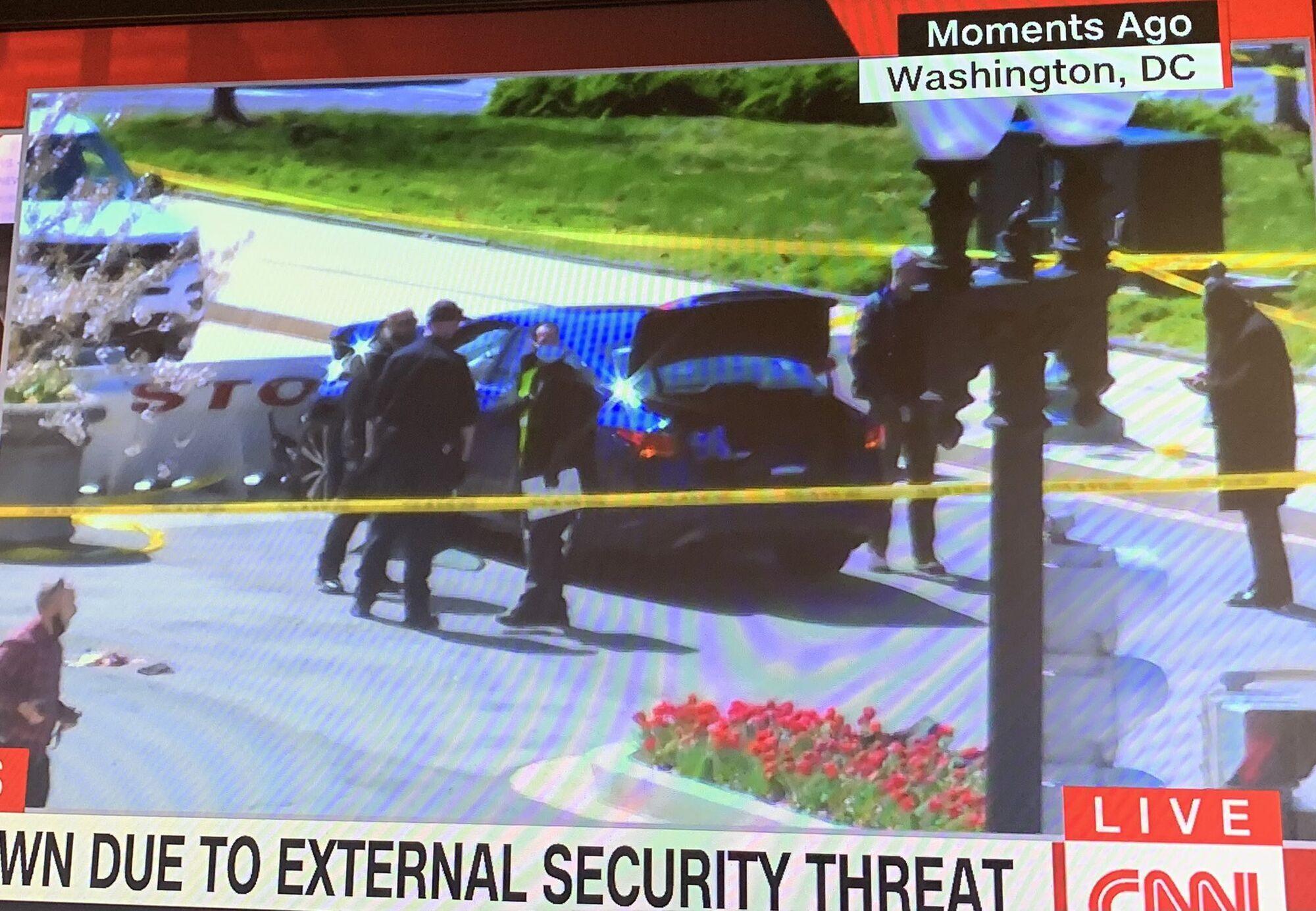 Авто, яке намагалося прорватися до будівлі Конгресу