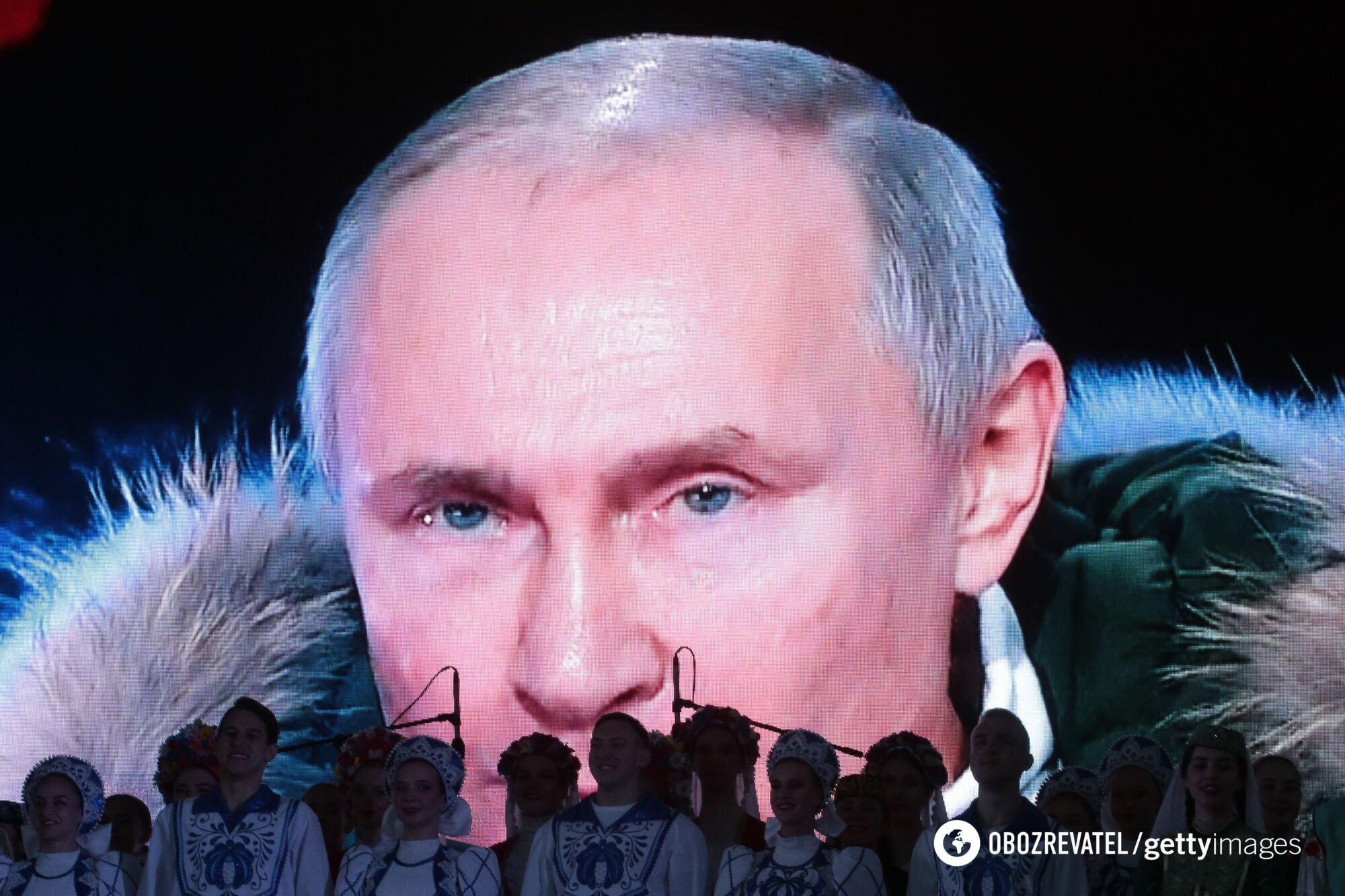 Президент Росії Володимир Путін виступив перед кримчанами з нагоди 7-го року анексії Криму онлайн