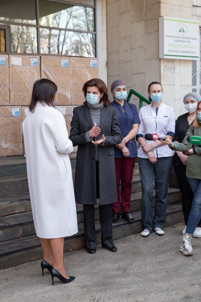 Порошенко подякувала всім благодійникам, які долучаються до процесу рятування українців від коронавірусу