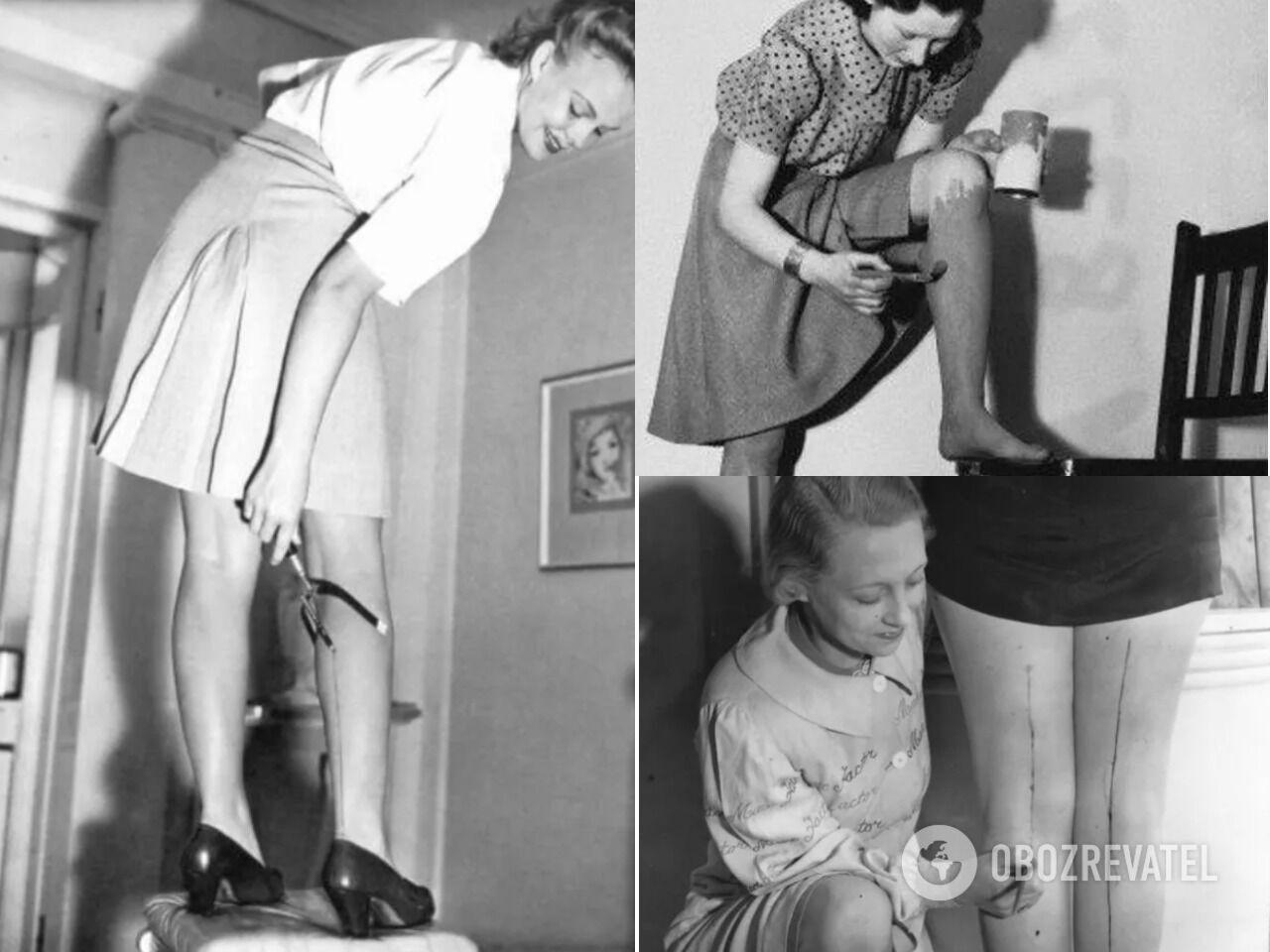 Во времена Второй мировой войны женщины рисовали себе чулки и носки разной краской, от которой были высыпания и аллергии