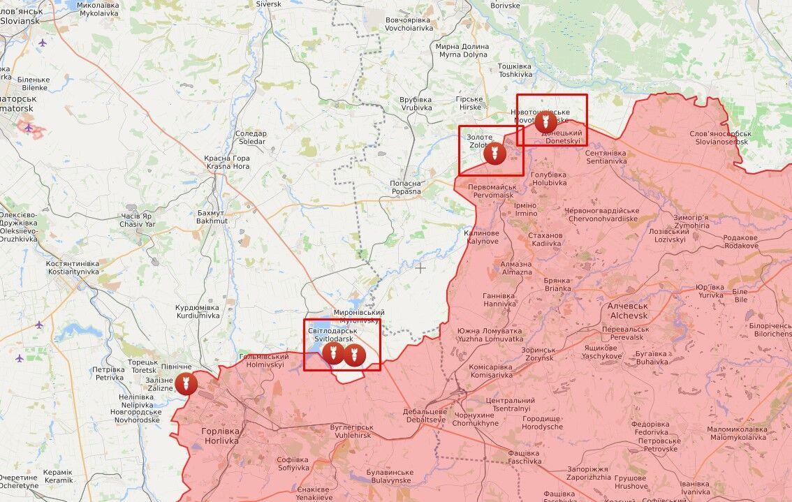 Обстріли в районі Золотого-4, Новотошківського і Світлодарська.