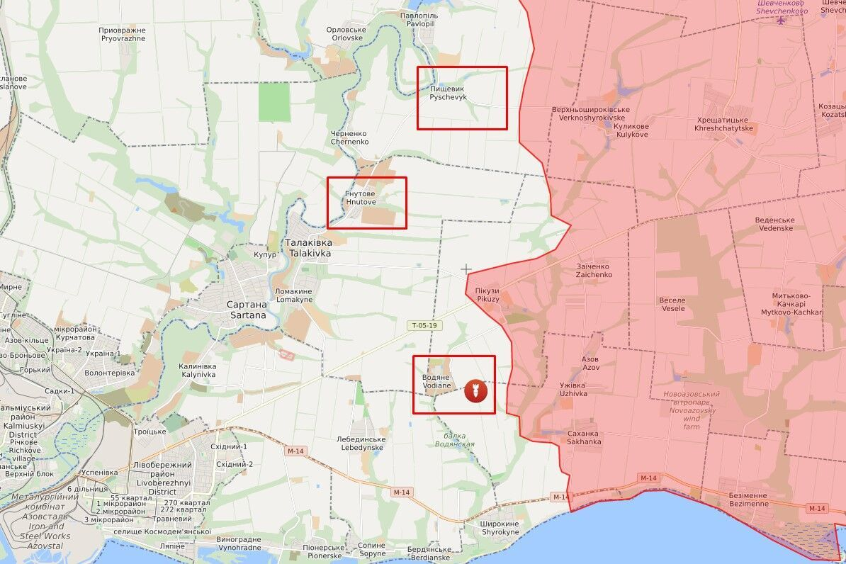 Обстріл у районі Пищевика, Водяного і Гнутового.