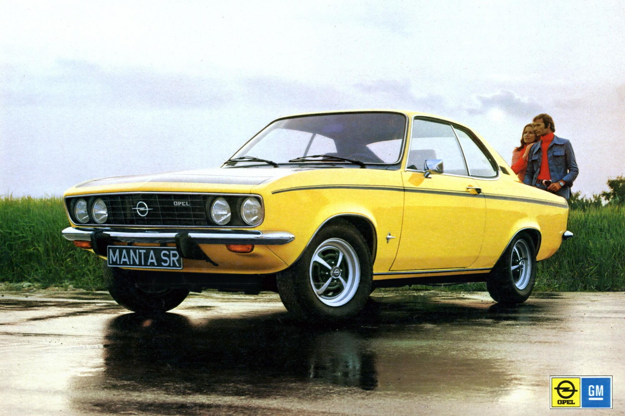 Оригінальне купе Opel Manta 70-років минулого століття