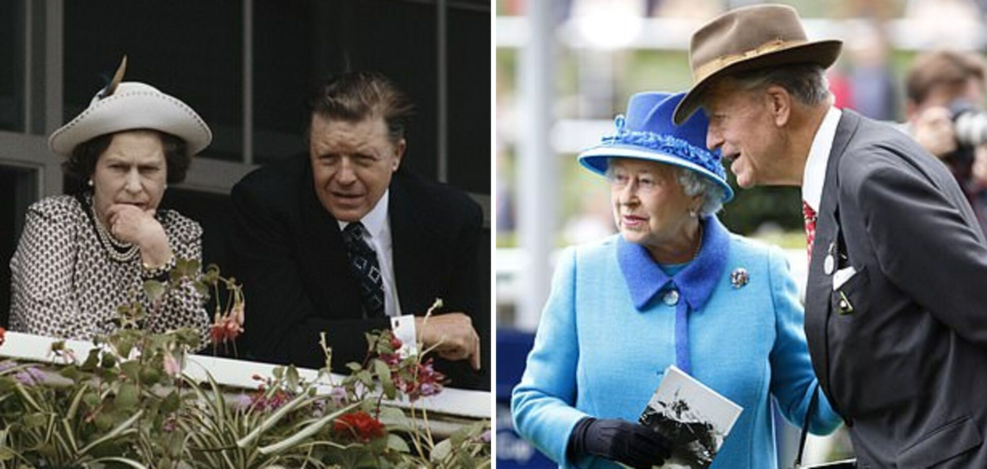 Королева Єлизавета II і сер Майкл Освальд