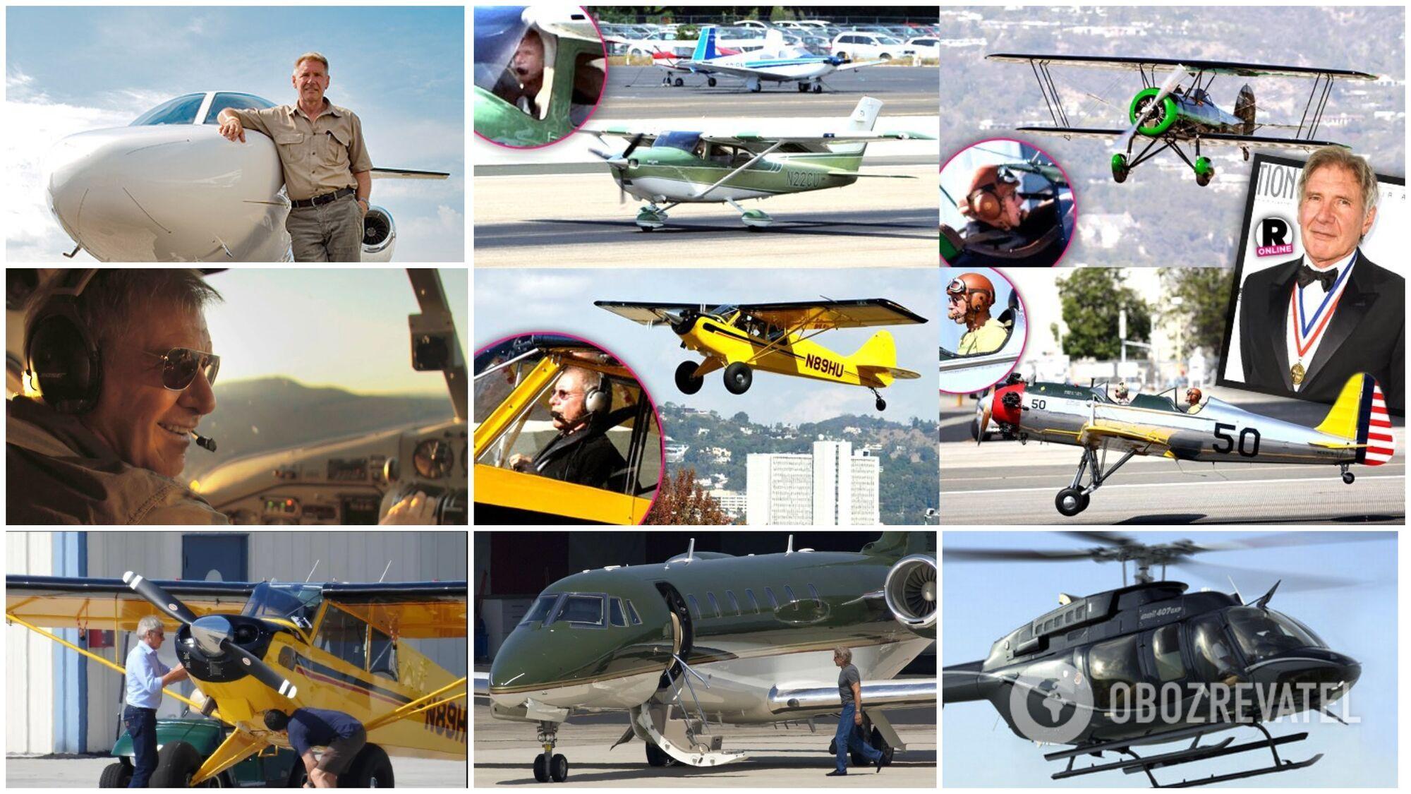 Гаррісон Форд володіє шістьма літаками і одним вертольотом