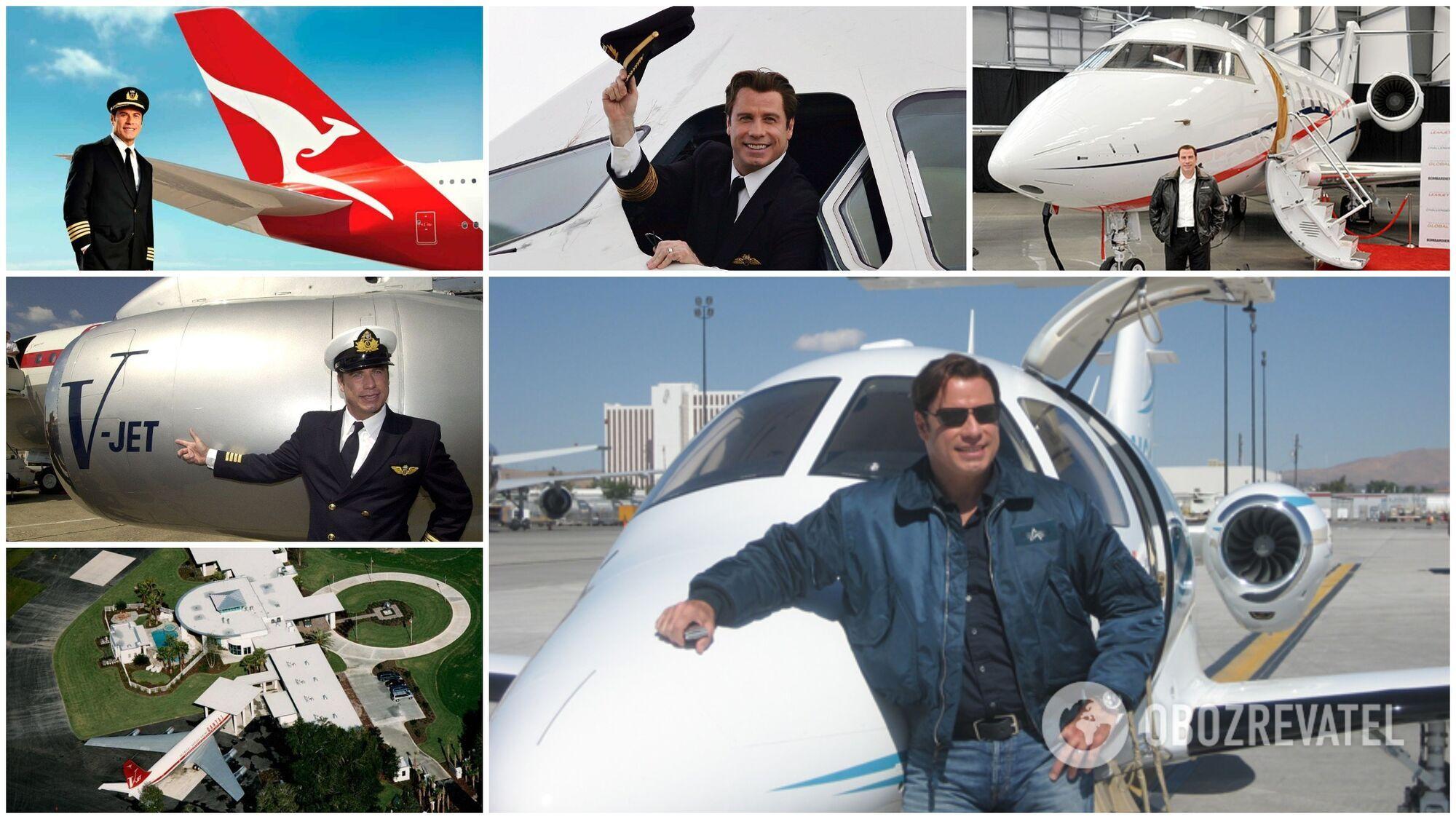 Джон Траволта має найбільший ангар літаків у Голлівуді