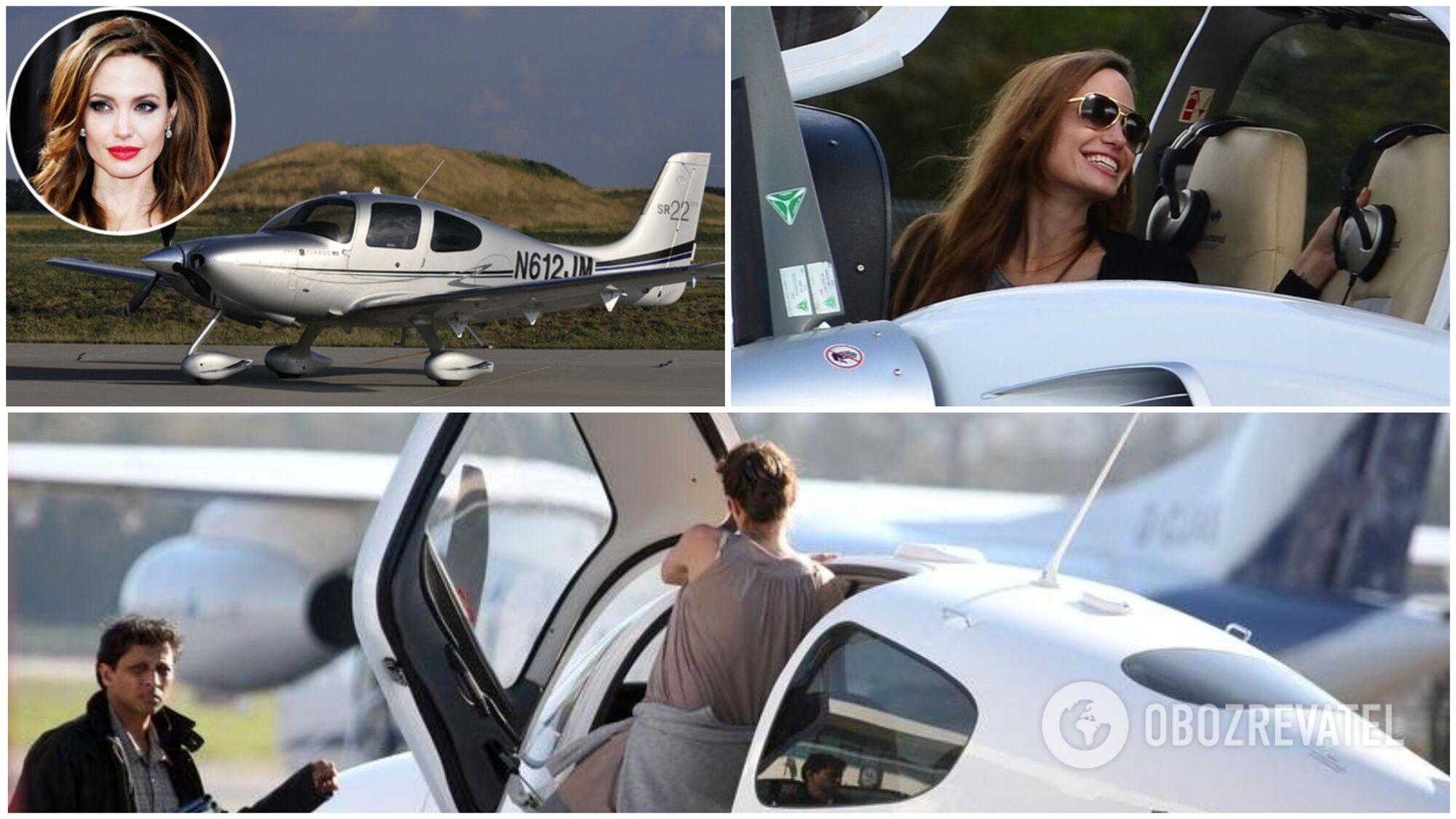 Анджеліна Джолі навчилася керувати літаком заради сина Меддокса
