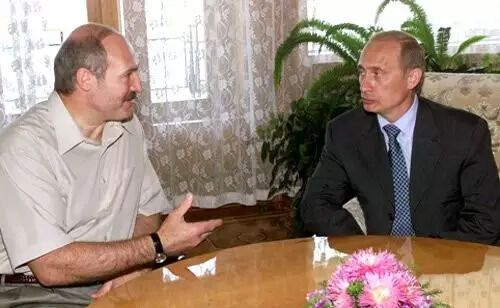 Путин на встрече с Лукашенко в Крыму, 2000 год