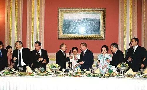 Путин на встрече с Кучмой