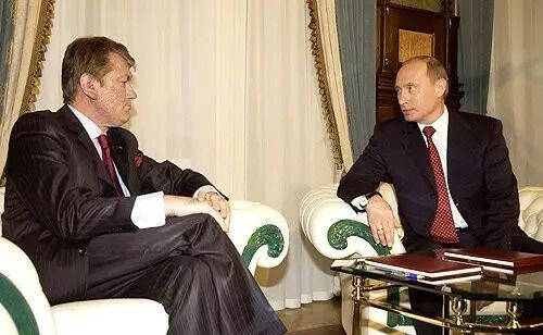 Виктор Ющенко и Путин в 2005 году
