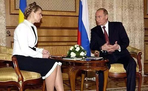 Юлия Тимошенко и Путин в 2005 году