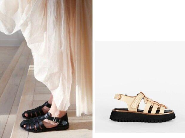 Як поєднувати сандалі з сукнями.