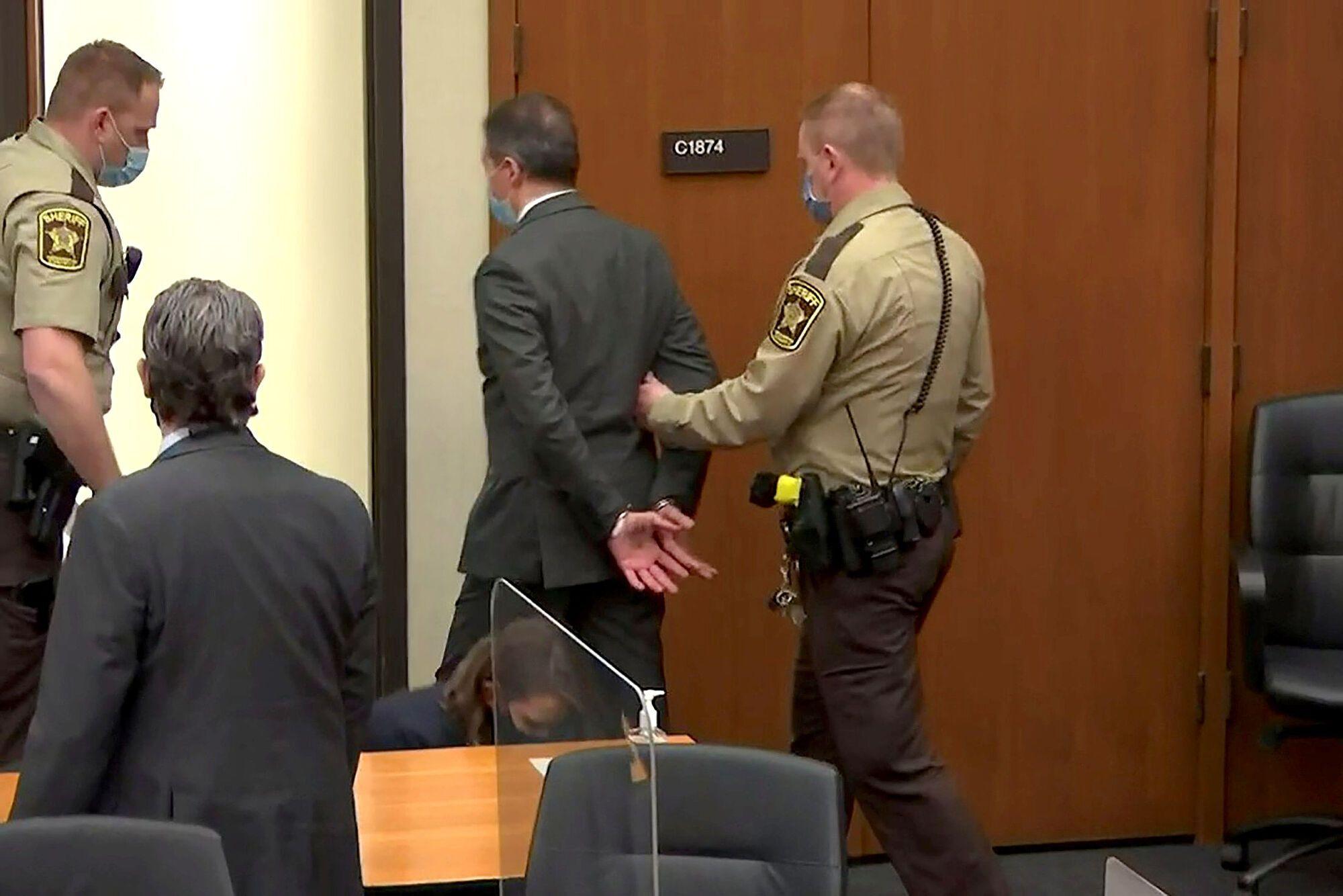 Шовина выводят в наручниках из зала суда