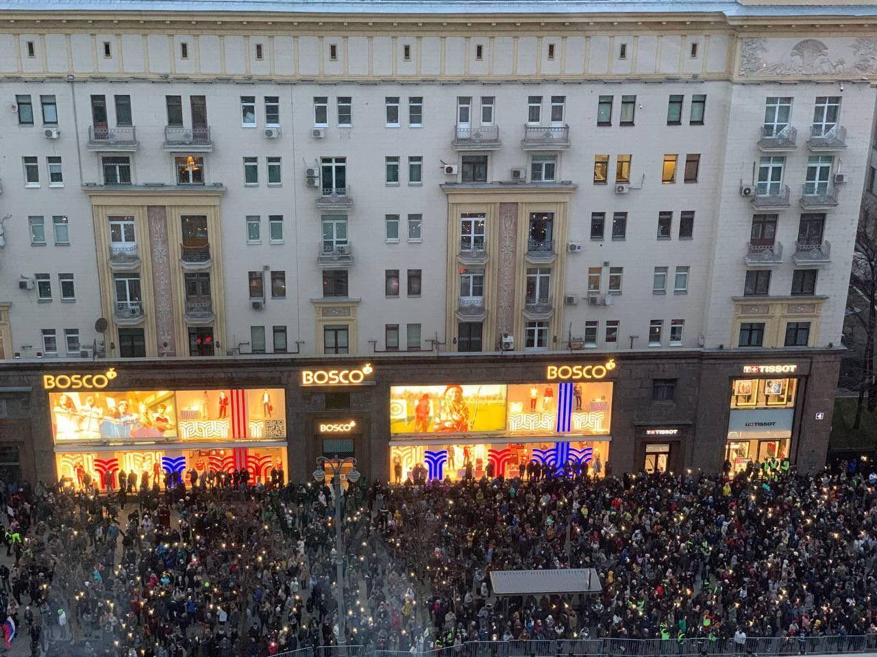 Фонарики на акции в столице РФ