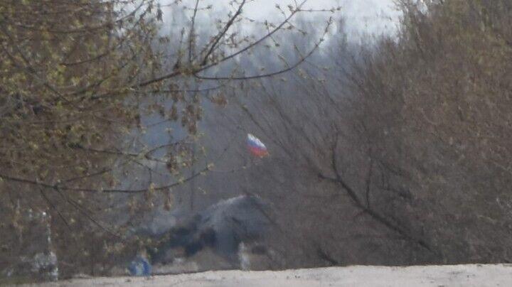 """Російський прапор в окопах терористів """"ДНР"""""""