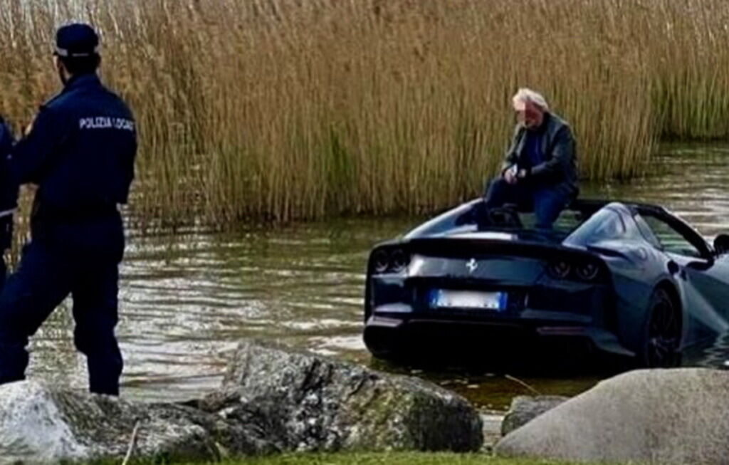 Ferrari 812 GTS в озера Гарда