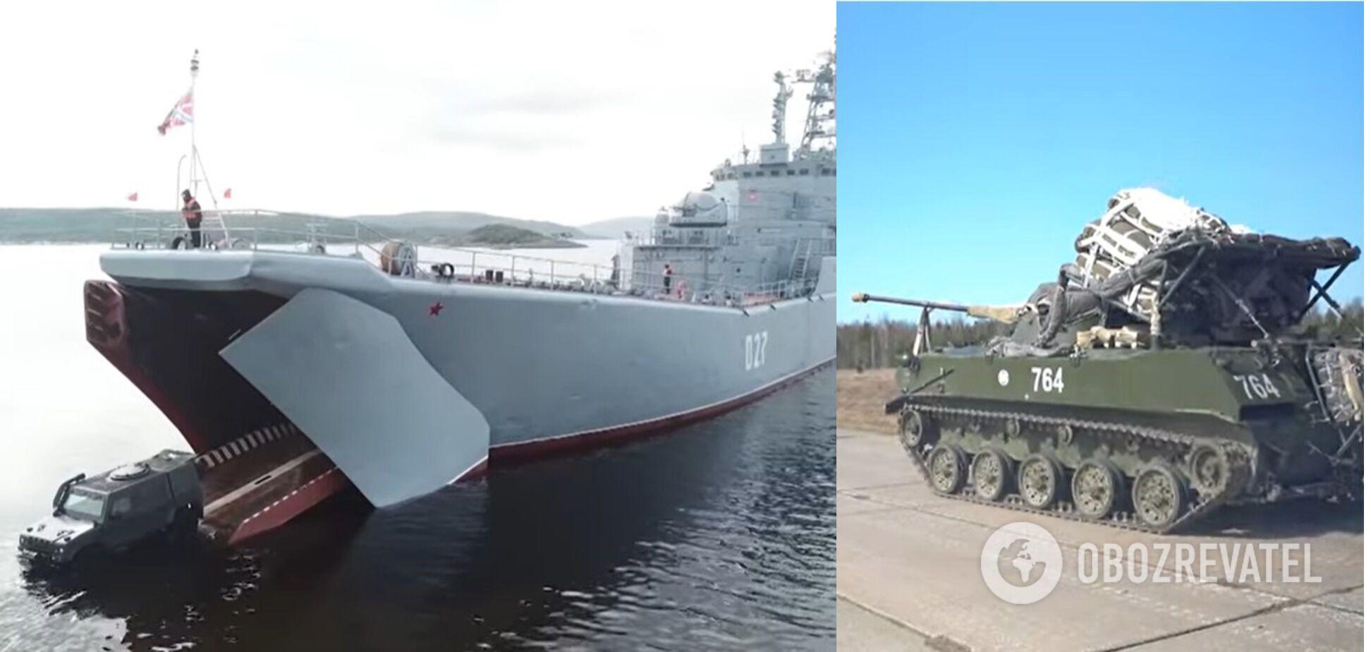 Росія стягнула військову техніку в Крим