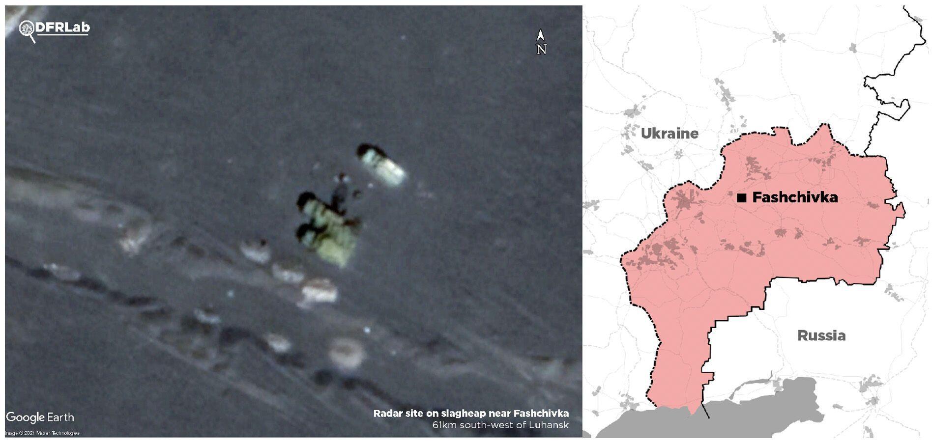 Супутникові знімки радару поблизу Фащівки, за даними СММ