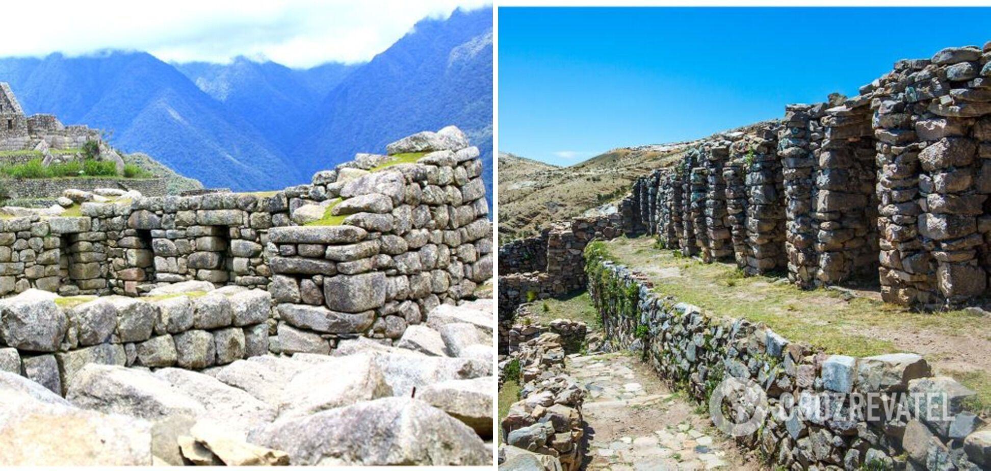 Слева – Мачу-Пикчу в Перу, справа – Исла-дель-Соль в Боливии.