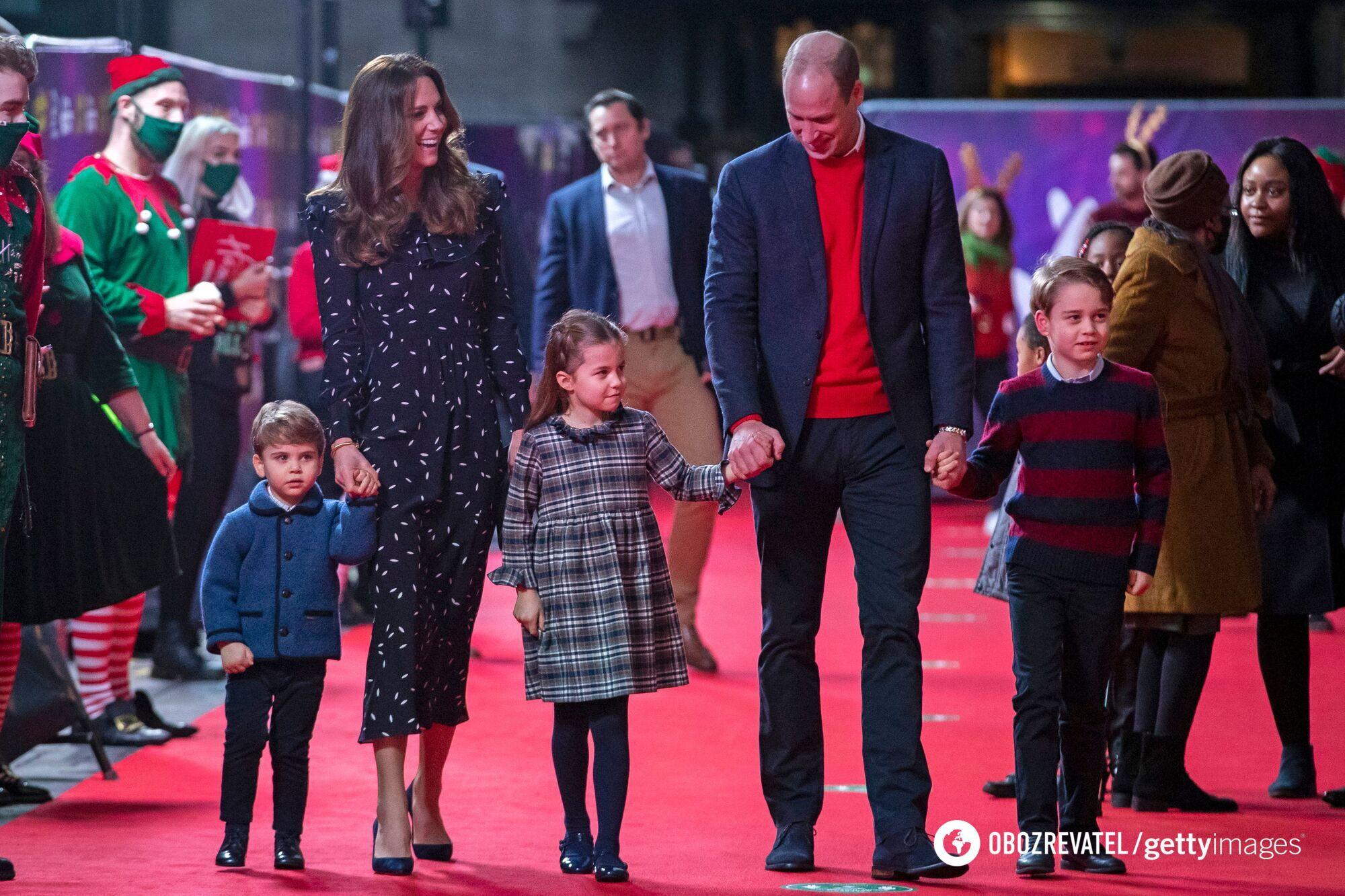 Сім'я принца Вільяма на різдв'яній вечірці в 2020 році.