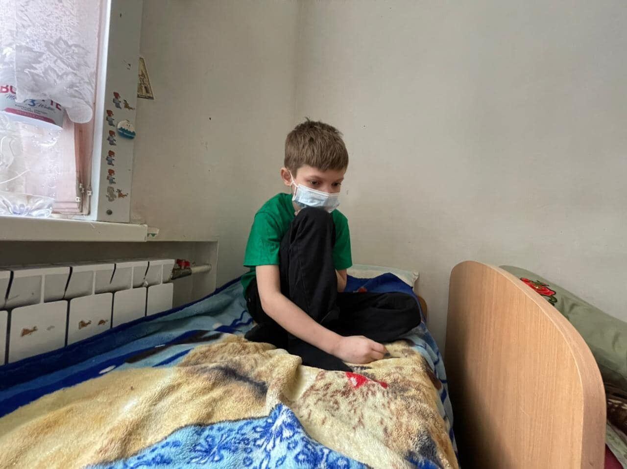 11 летний Богдан сегодня утром в ожидании окончательного принятия решения о пересадке почки