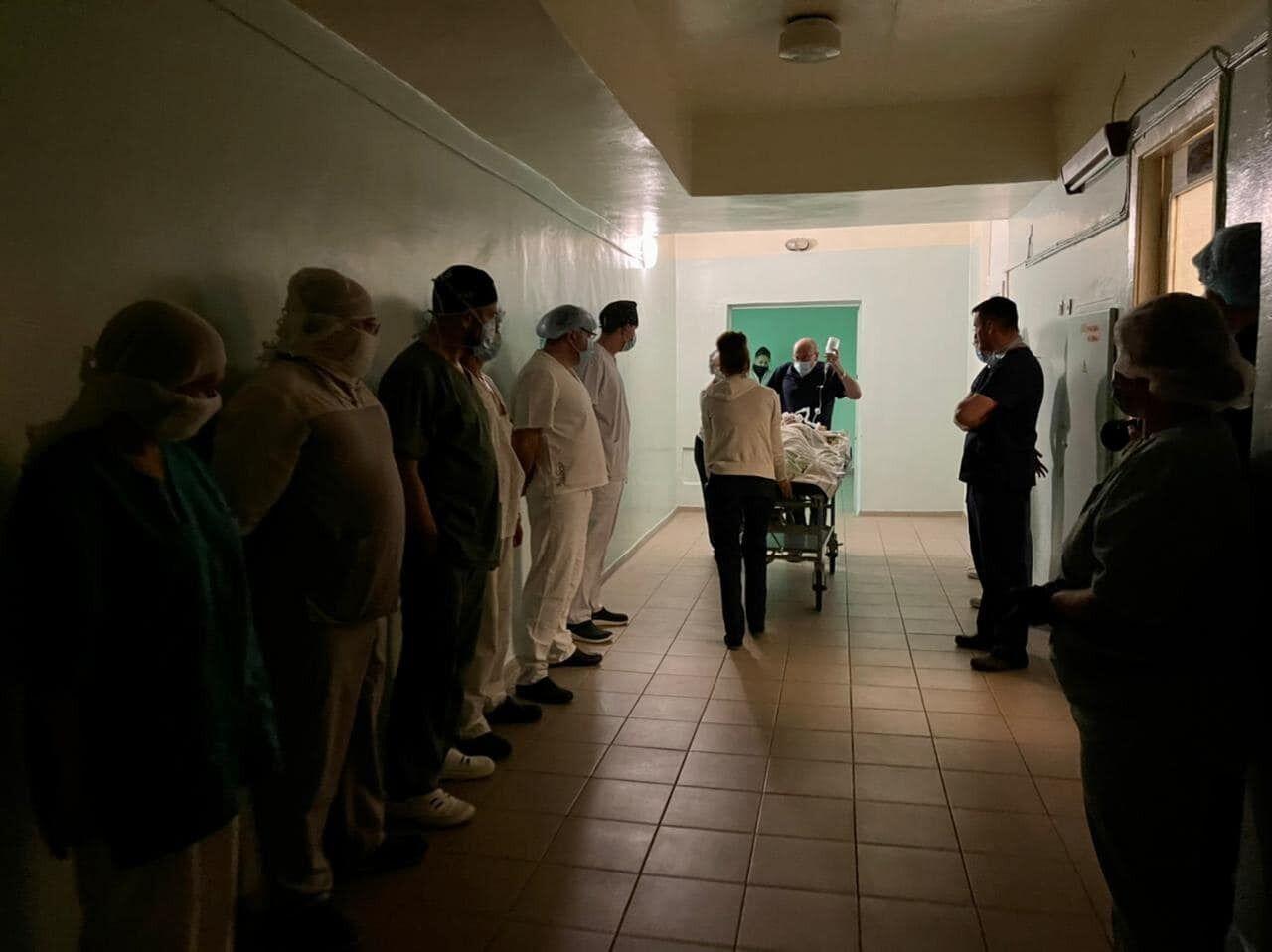Проводы донора, которая уходя подарила жизнь трём украинцам в 5 городской больнице Запорожья