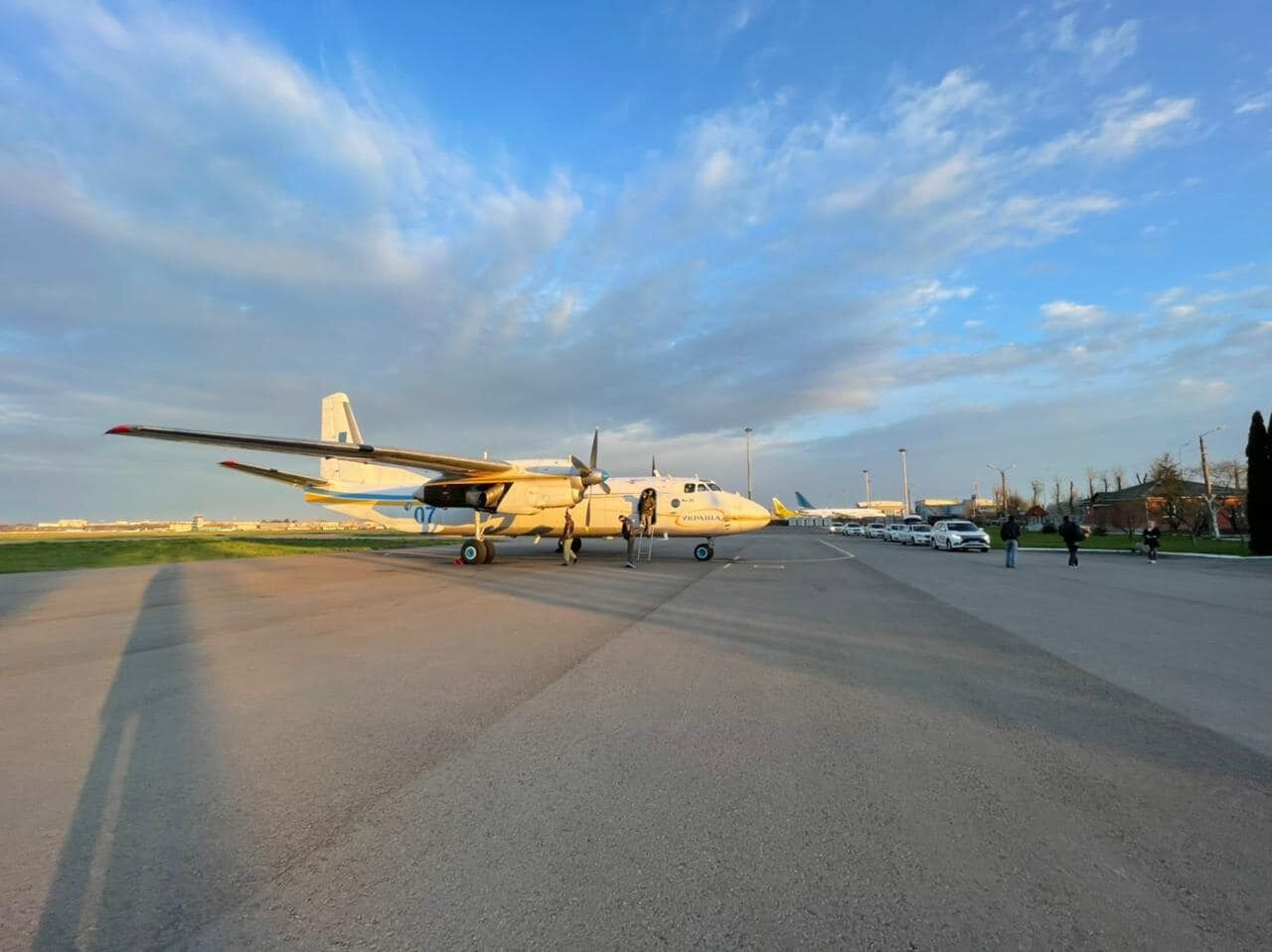 Самолёт АН-26 Национальной Гвардии Украины на котором осуществлялся экстренный рейс