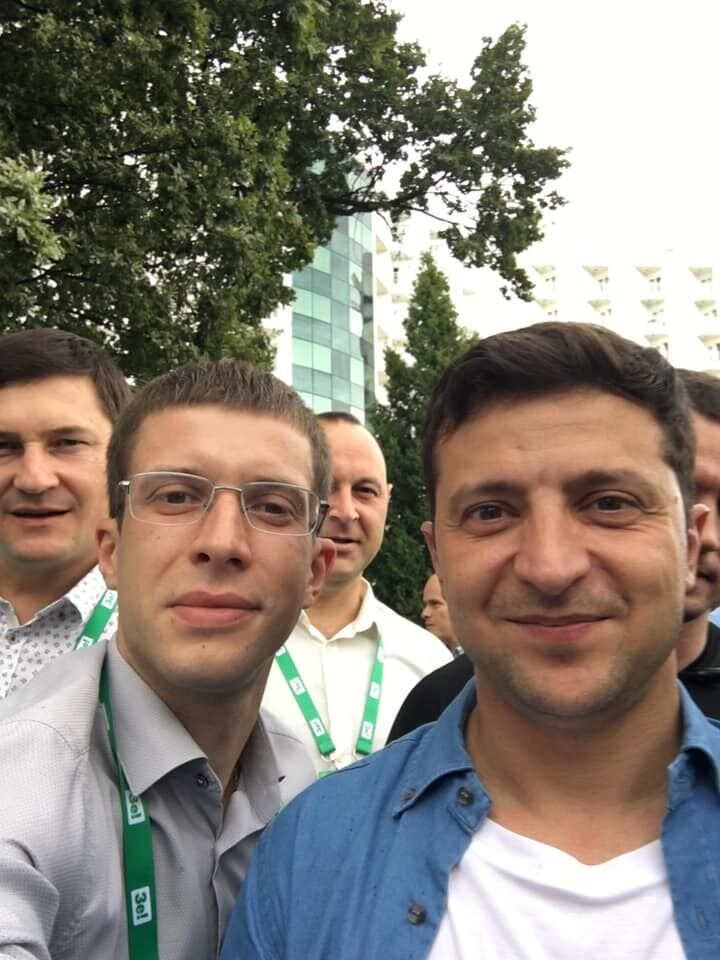Олег Арсенюк разом із президентом України Володимиром Зеленським