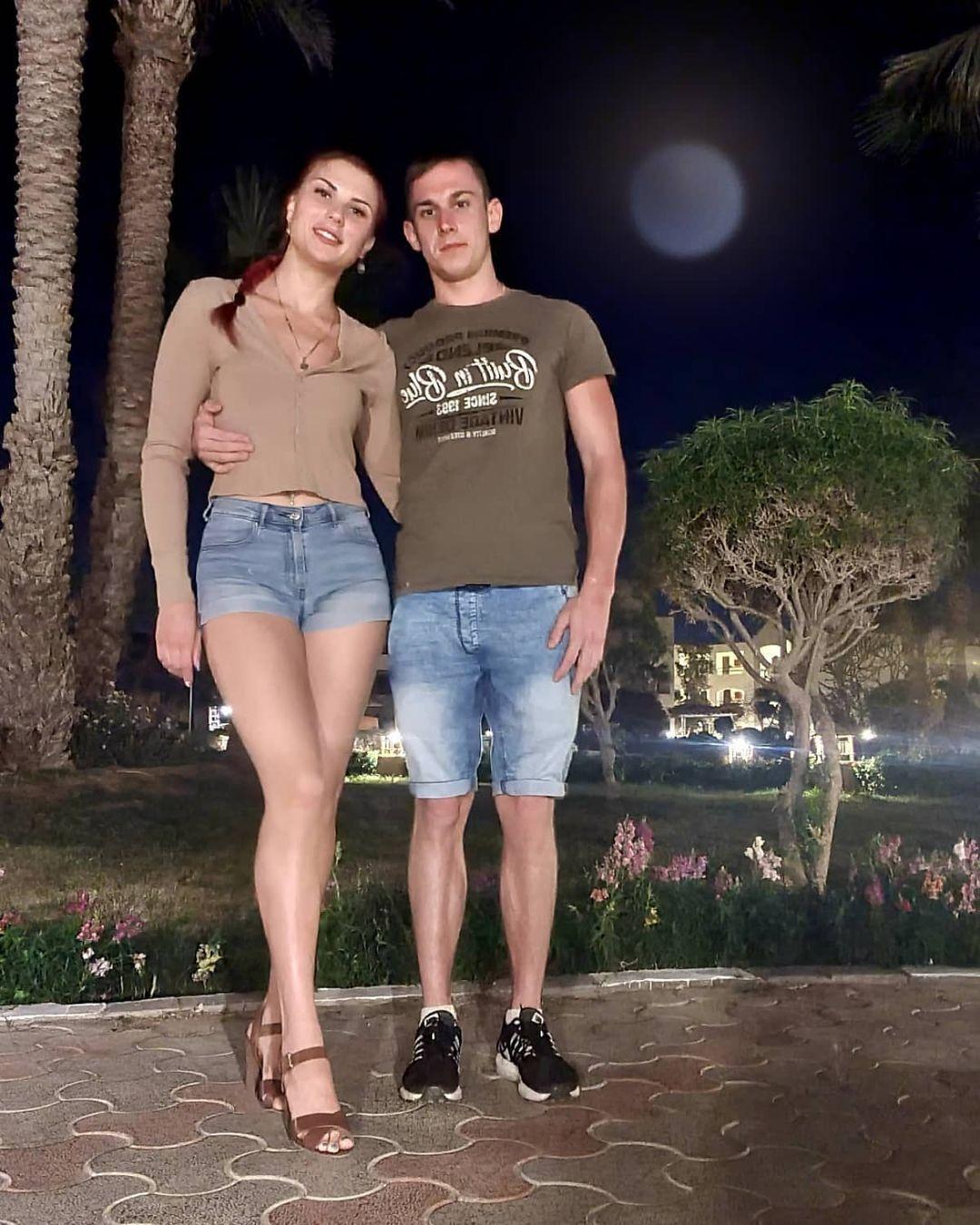 Ганна Кривонос зі своїм хлопцем