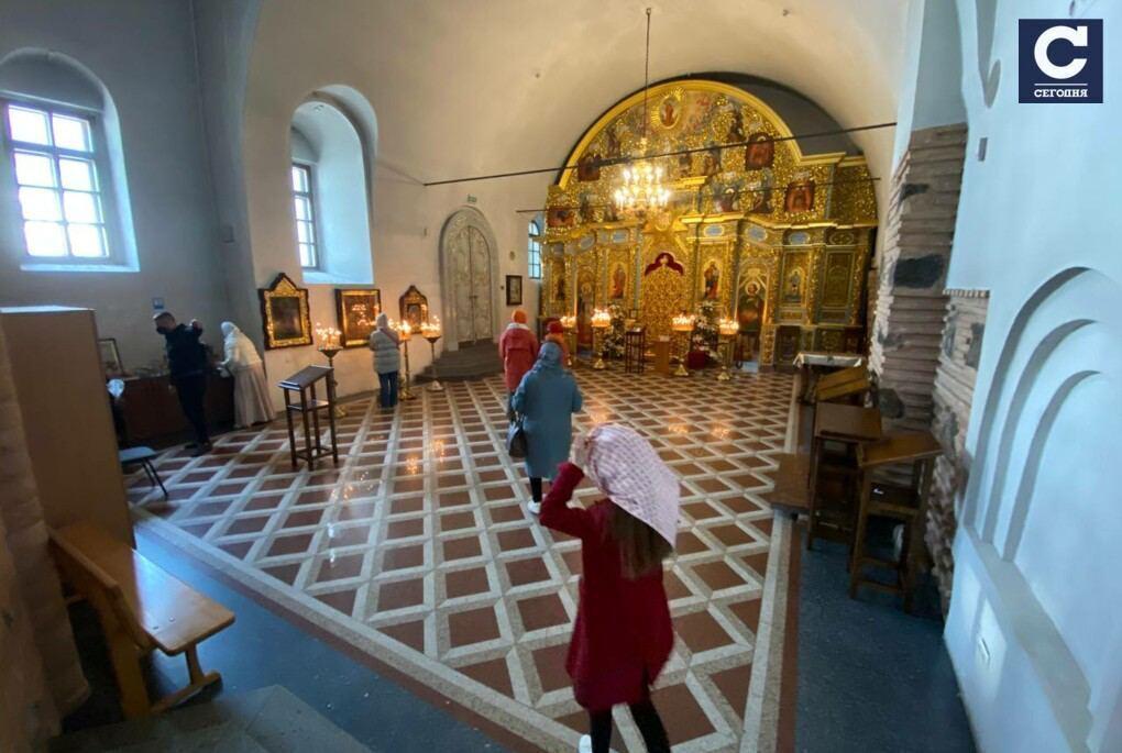 Празднование Вербного воскресенья в Киево-Печерской лавре