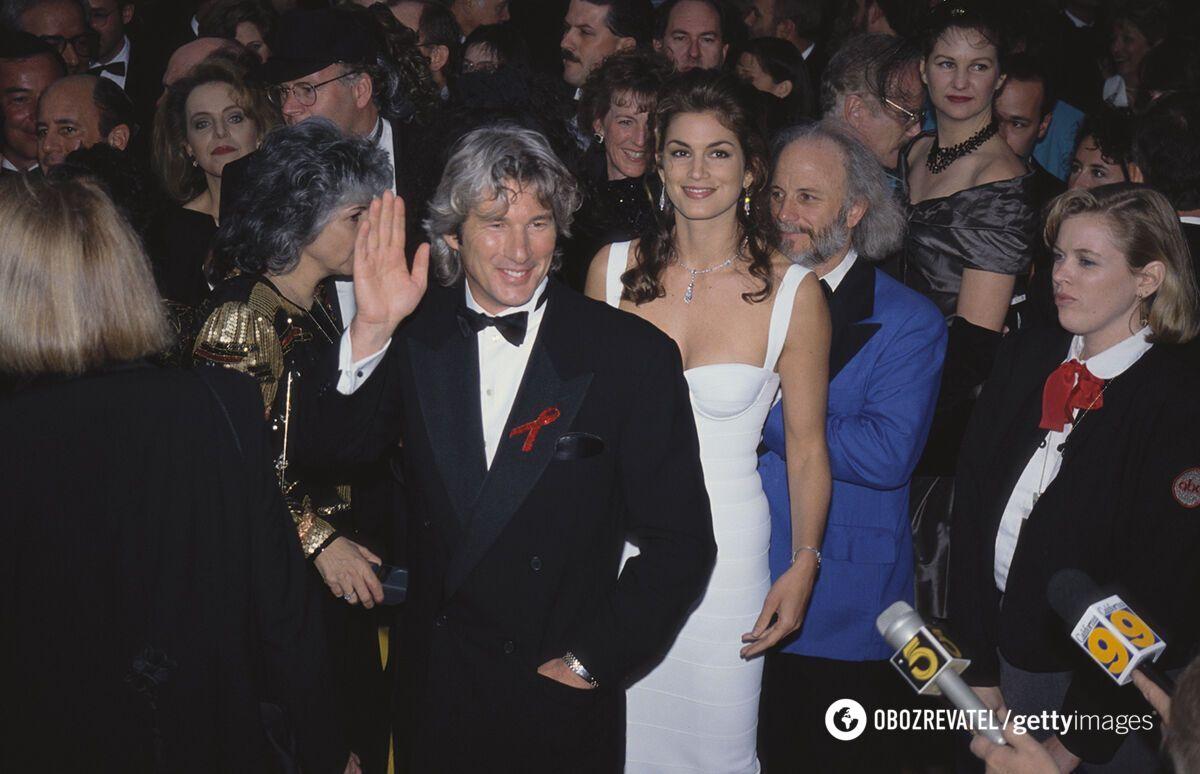 "Ричард Гир на 65-й церемонии ""Оскар"" в 1993 году"