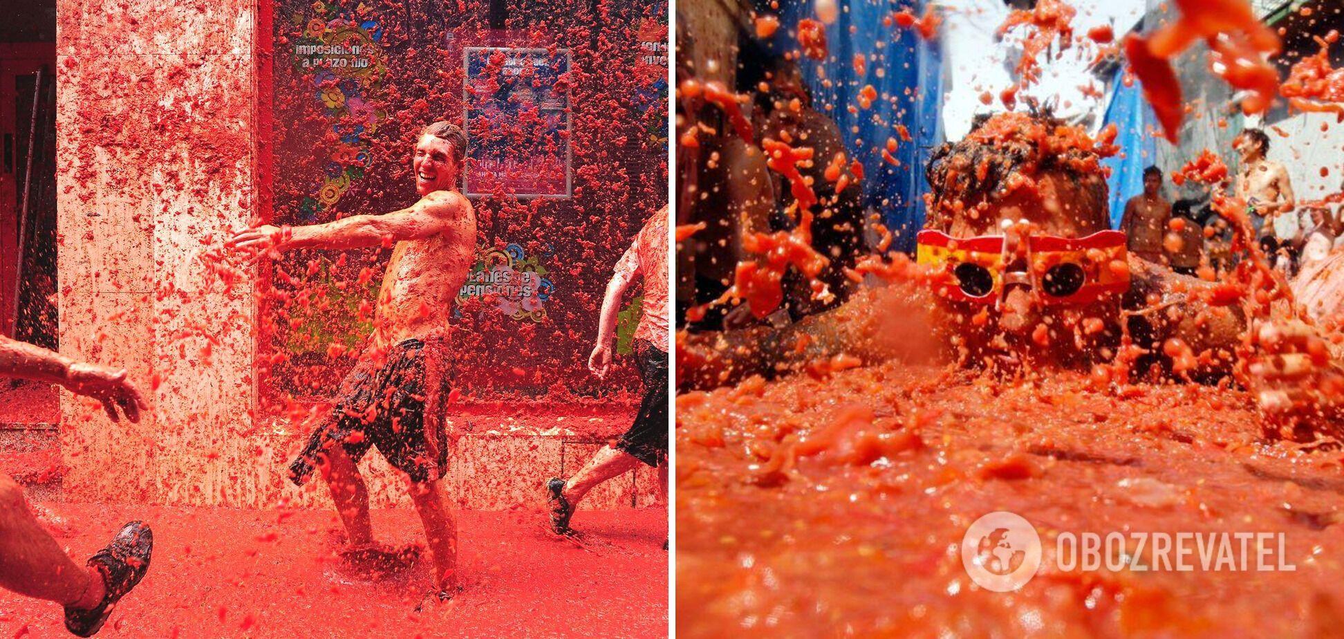 Ля Томантина – фестиваль в Испании, когда бросаются помидорами