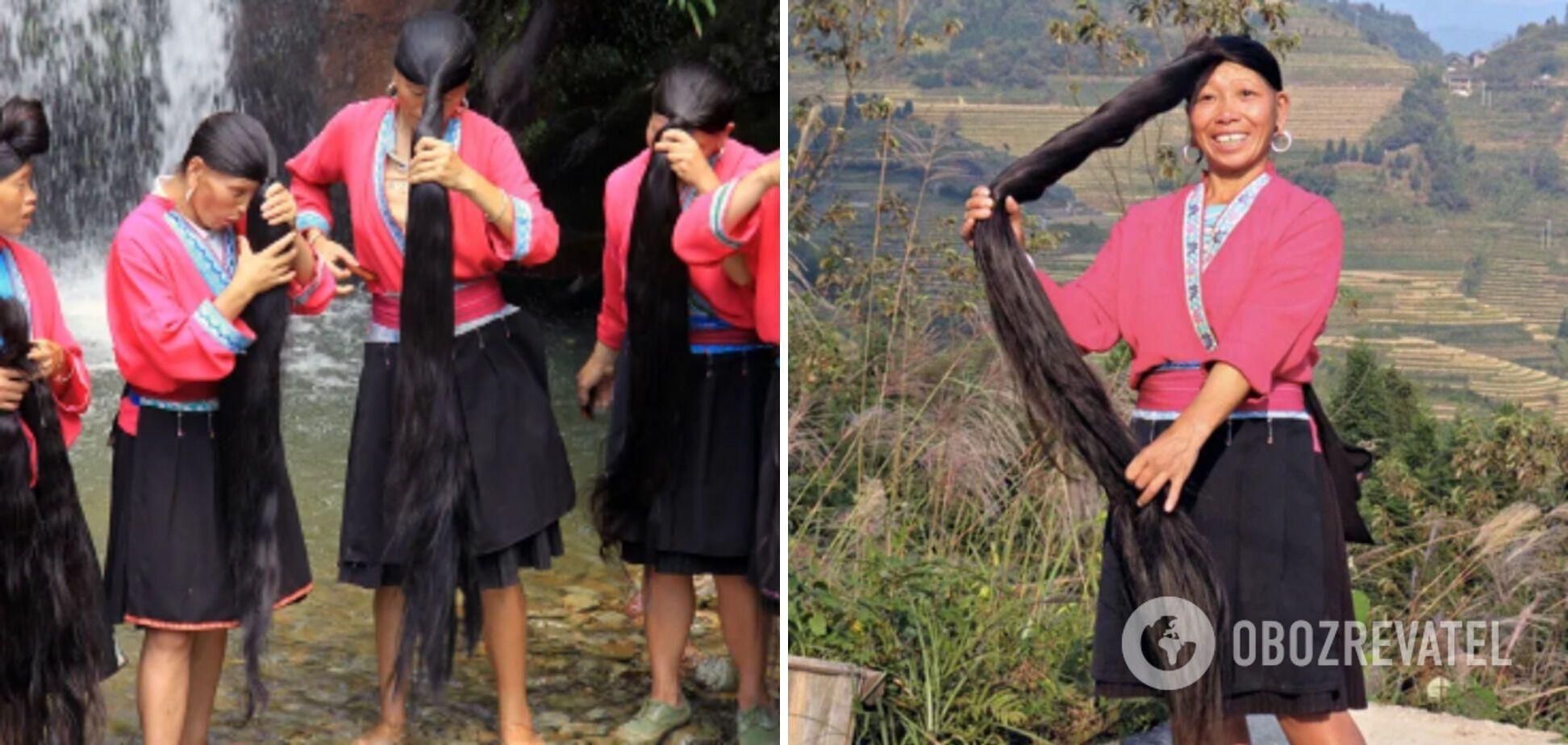 В китайском селе женщины никогда не стригут волосы.