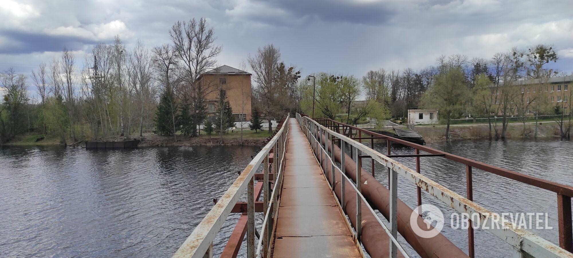 Мост к одном из предприятий Чернобыля.