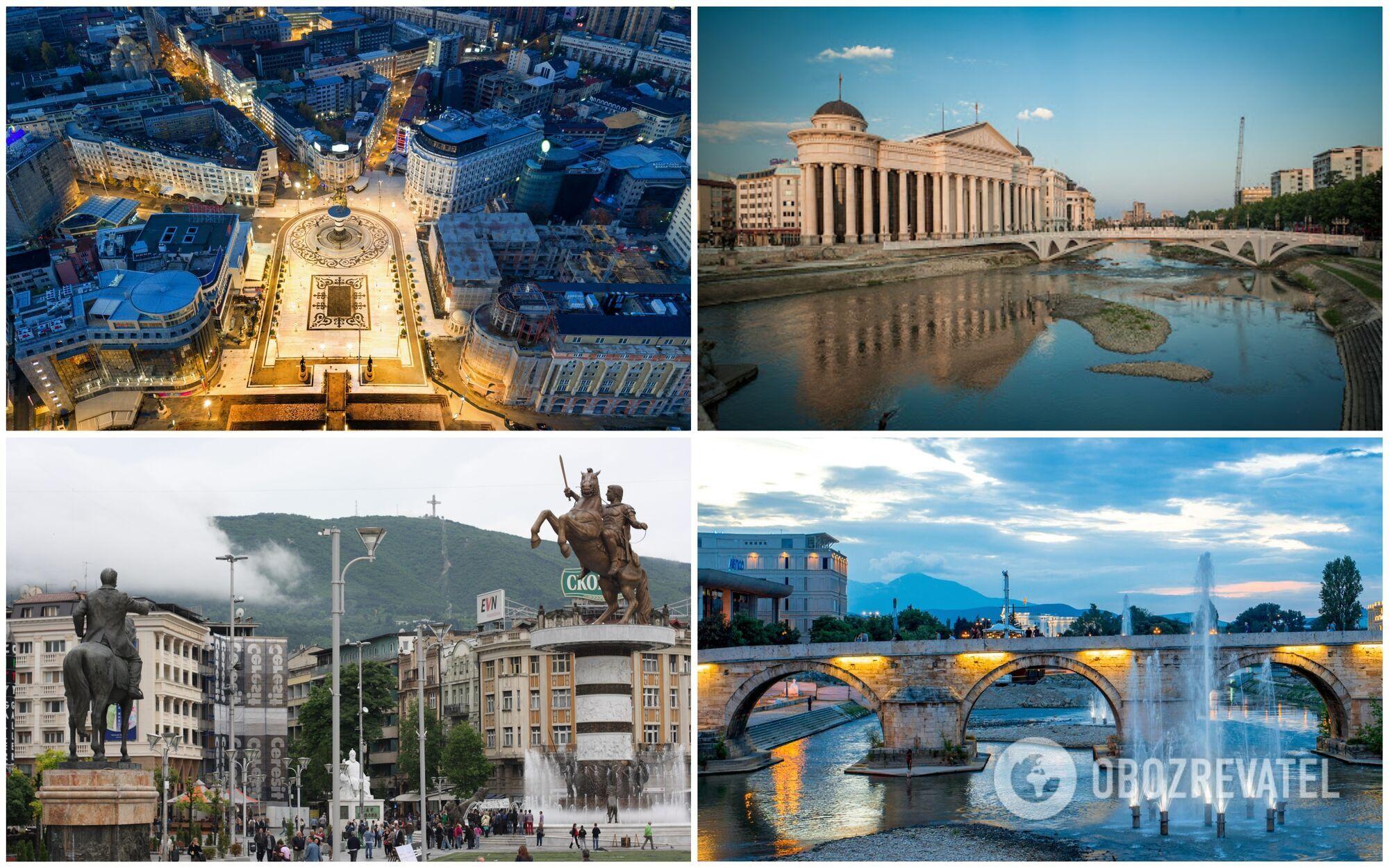 Архитектура Скопье очень яркая и разнообразная
