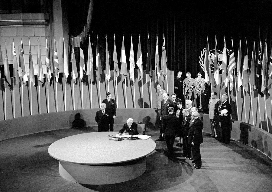 26 квітня 1945 року Україна стала однією зі співзасновниць ООН
