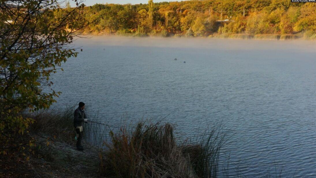 Озеро в селі Грушівка.