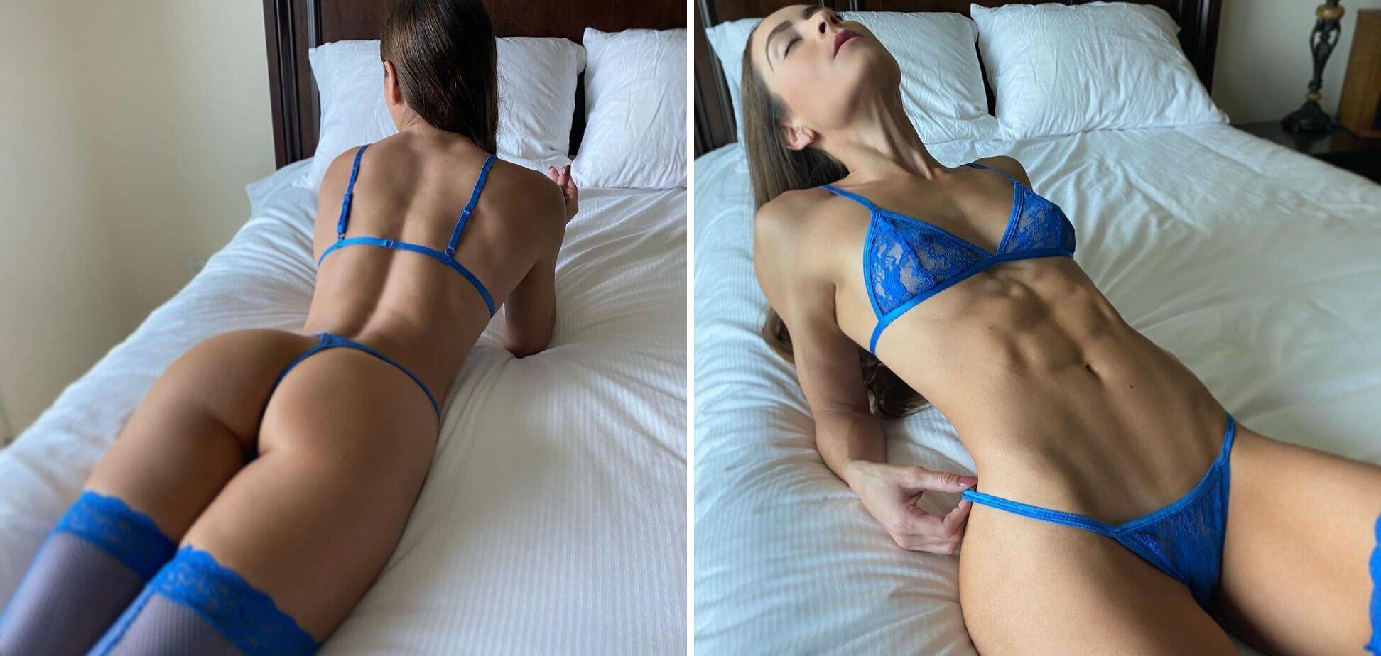 Стефані Марі в синьому