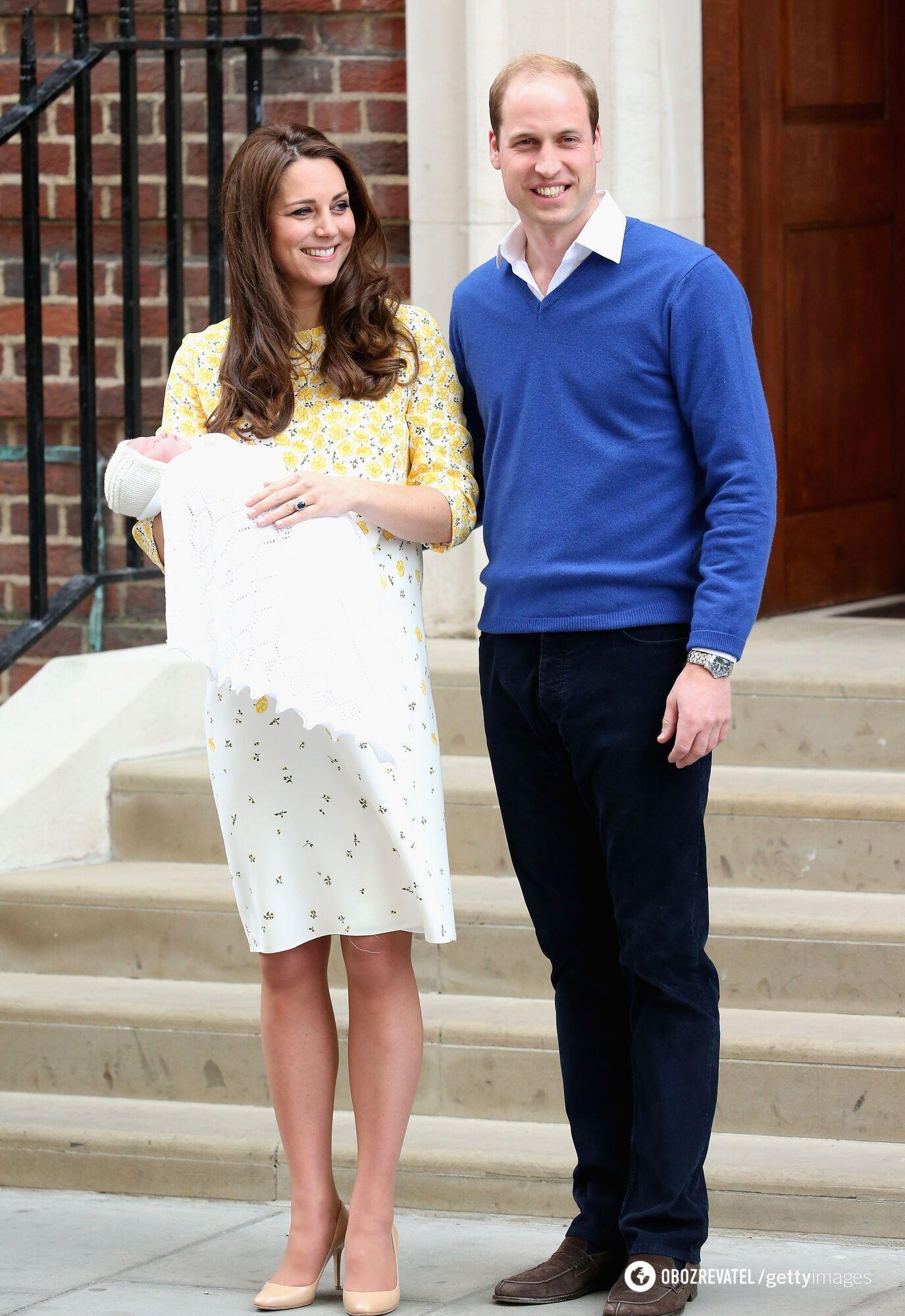 В 2015 году Кейт Миддлтон родила принцессу Шарлотту.