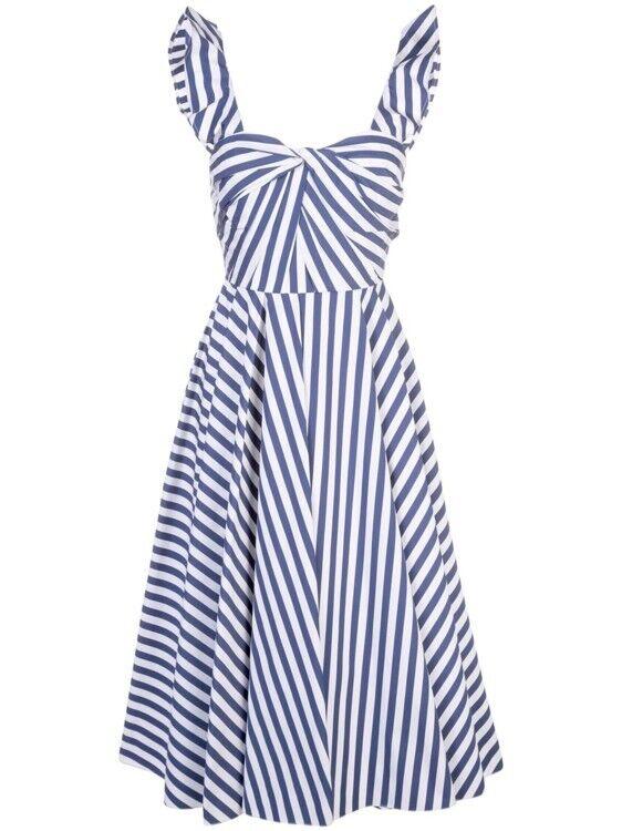 Модное платье в полоску от Jason Wu