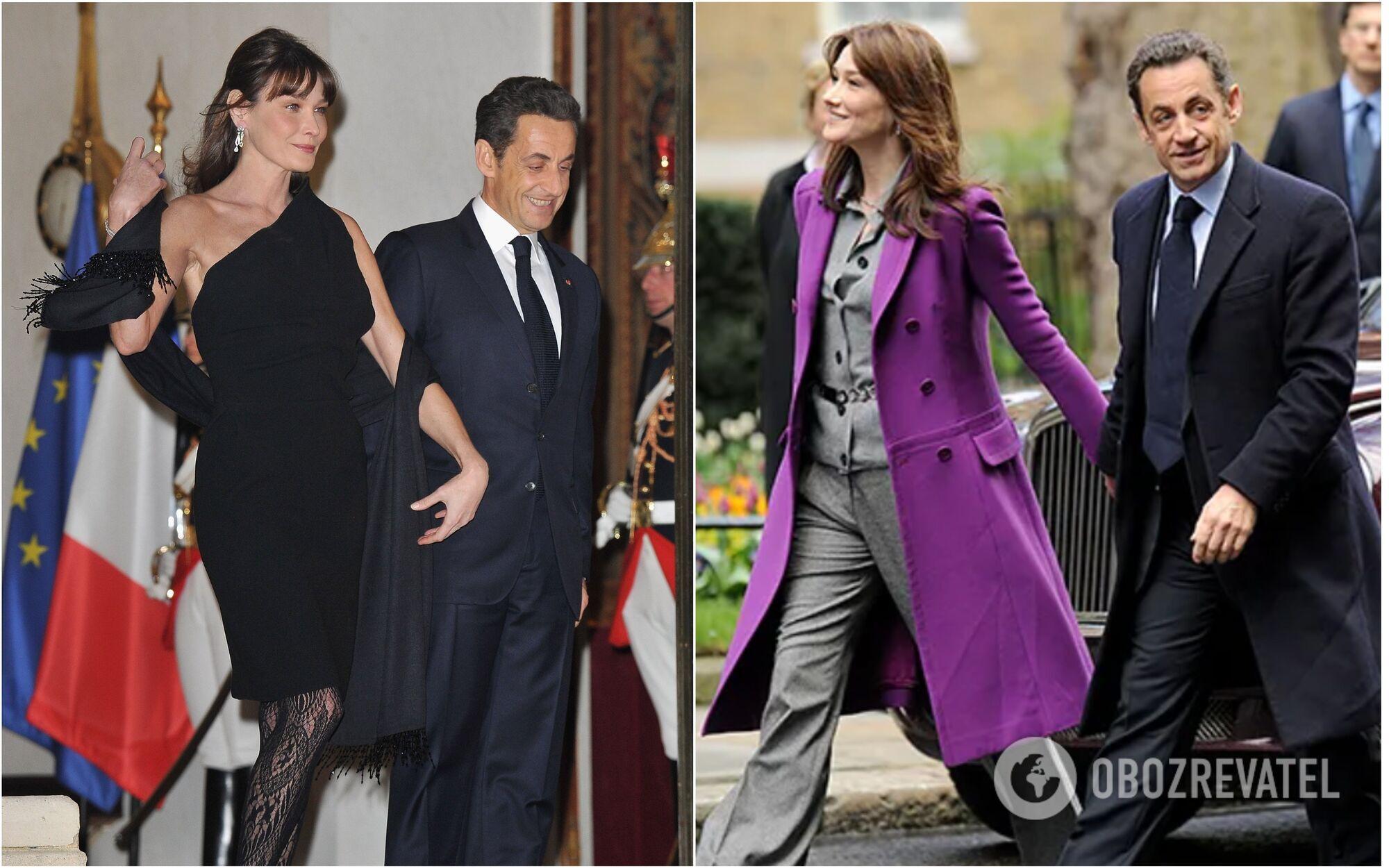 Карла Бруни выше Николя Саркози на целых 10 сантиметров.