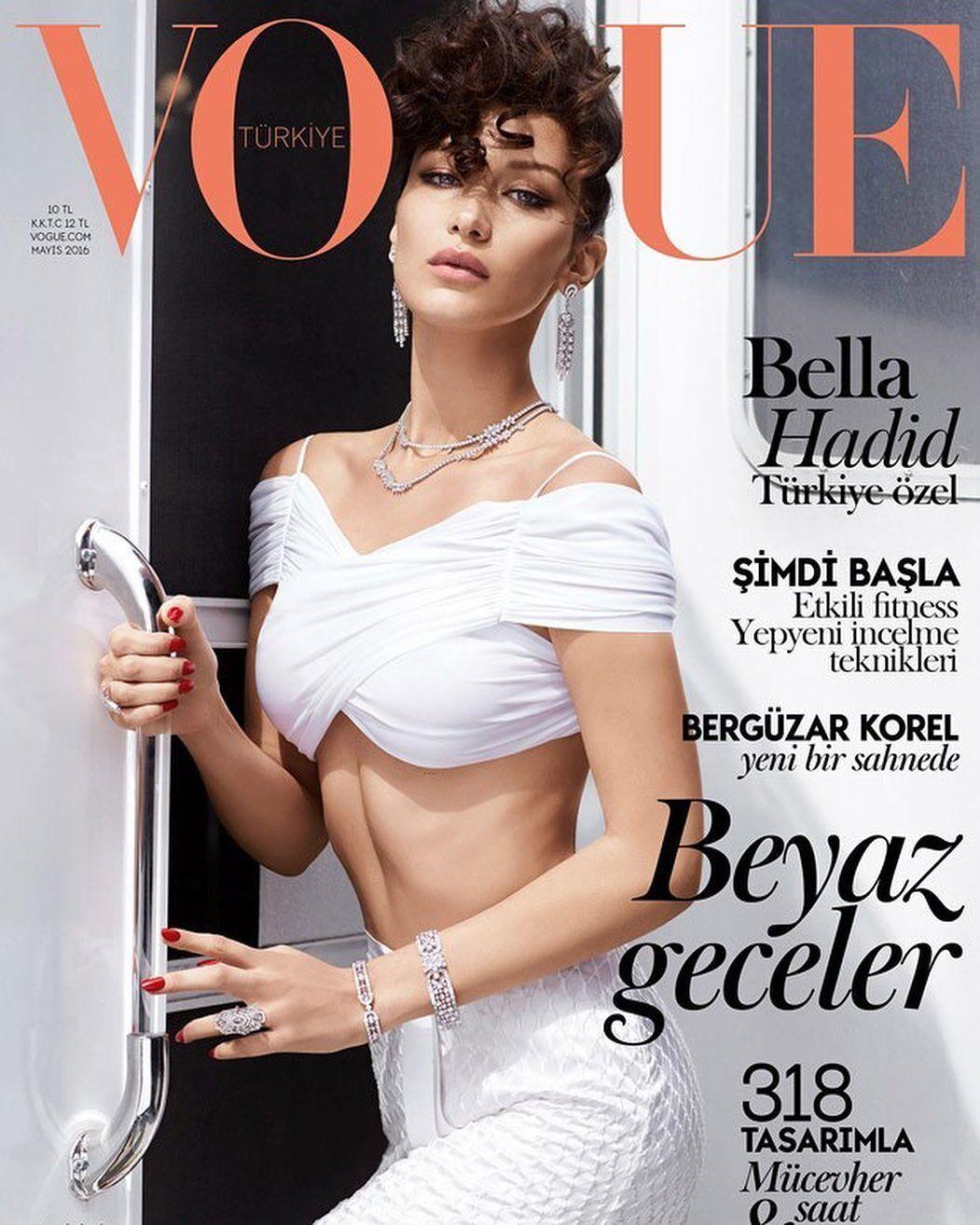 Хадид снялась для первой обложки журнала Vogue